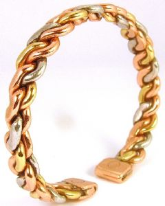 M9: Three colour Entwined Magnetic Bracelet
